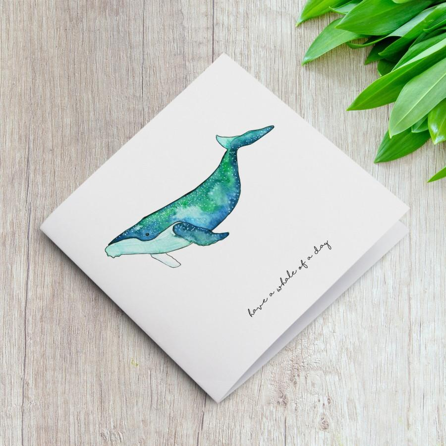 Wedding - Greeting Card, Birthday Card, Friends Cards, Stationary, Whale Print