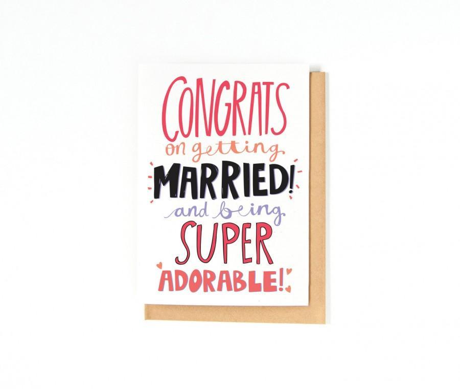 Wedding - Wedding Card - Newlyweds - Wedding Congratulations Card - Congrats Card - Mr. and Mrs. Card - Wedding Card - Bride And Groom - Marriage Card
