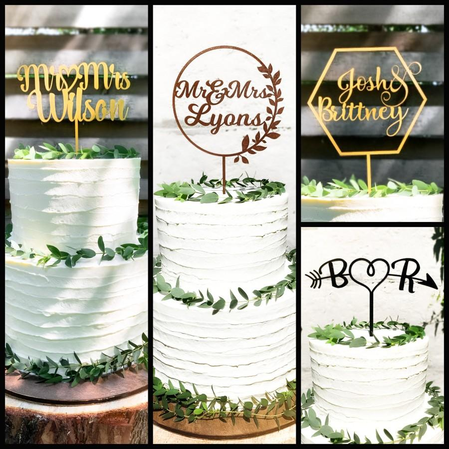 Mariage - Wedding Cake Toppers Bride And Groom - Custom Cake Topper - Rustic Cake Topper -  Boho Wedding Cake Topper - Family Wedding Cake Topper