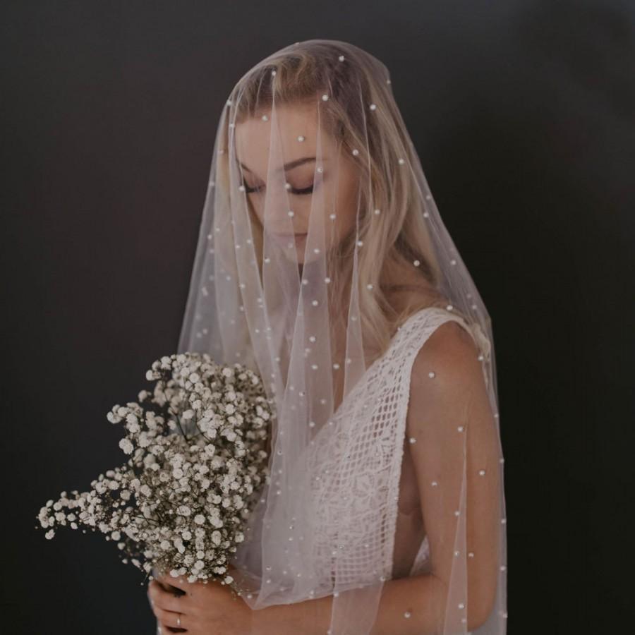 Wedding - Ivory/White Elegant Beads Bridal Wedding Veil,Long Veil With Comb