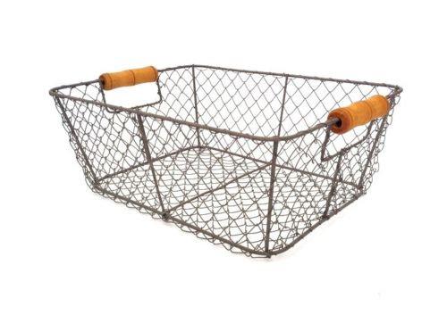 Свадьба - Wire Storage Basket Metal Mesh Crate Vintage Industrial Style Hamper Trug Wedding Venue Card Holder Decoration