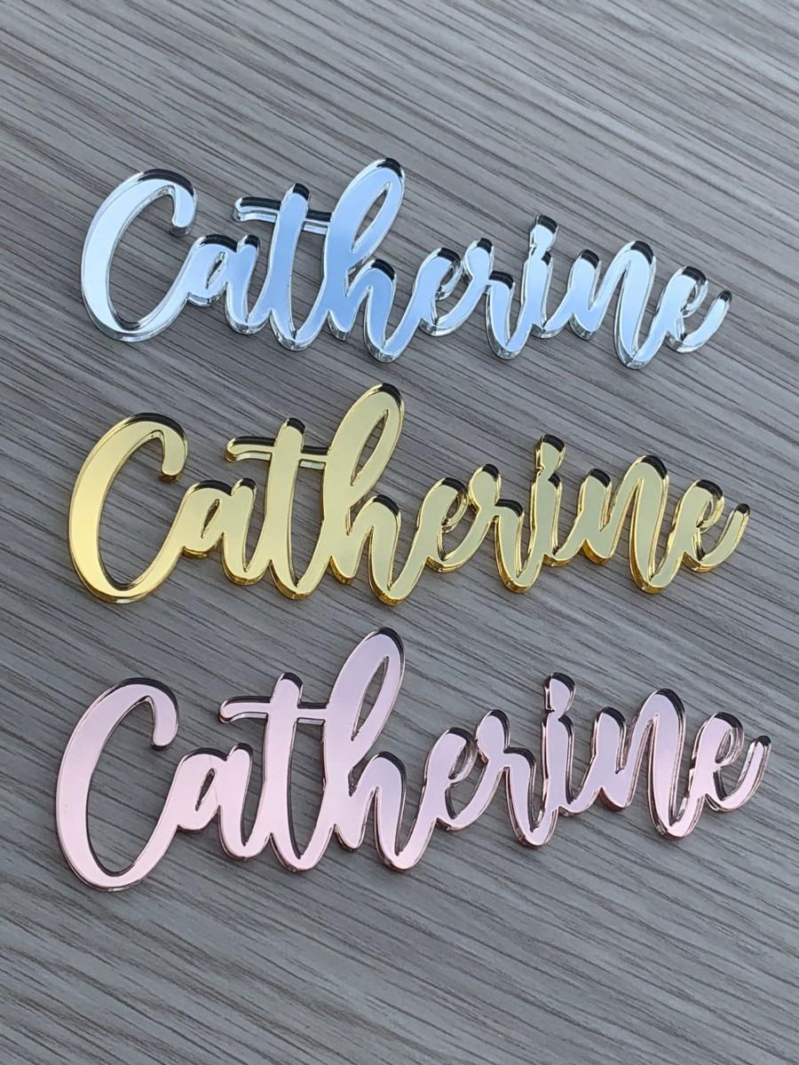 Wedding - Name Place Cards , Name Plaques , Personalised Guest Names , Wooden Place Cards , Laser Cut Names , Wedding Events , Acrylic , Wedding ,Cake