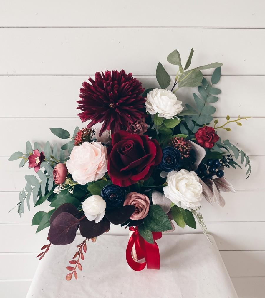 Wedding - Wedding bouquet, bridal bouquet burgundy, Bridal Bouquet, Wedding Flowers, bouquet wedding burgundy, Dahlia Eucalyptus Wedding Bouquet