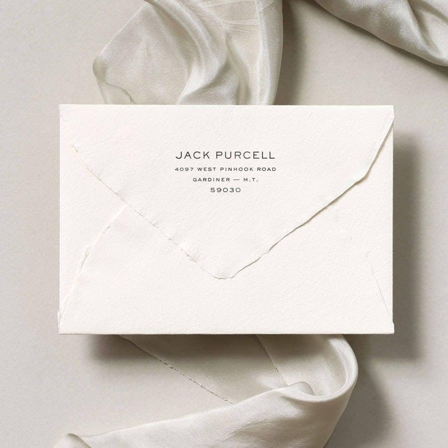 Wedding - Simple Modern Return Address Stamp