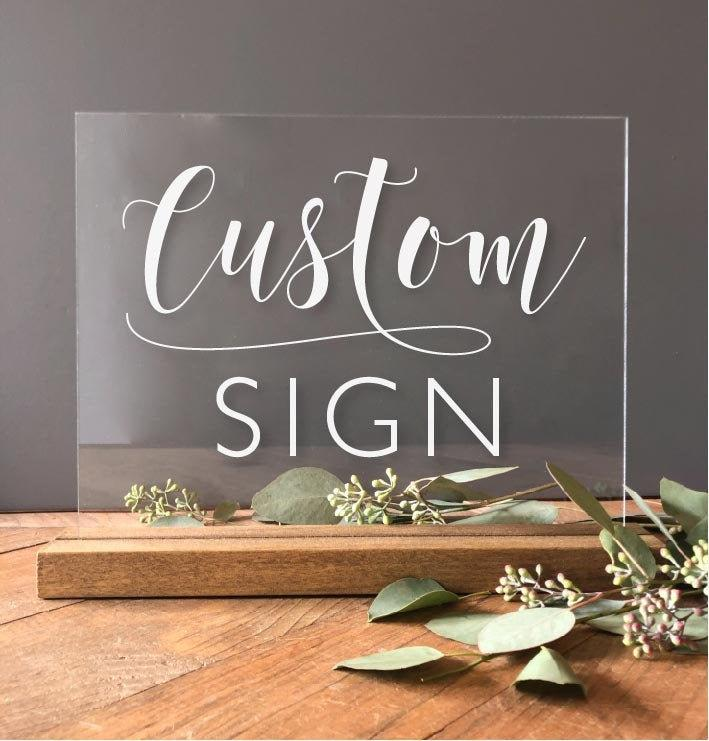 Wedding - Acrylic Wedding Sign