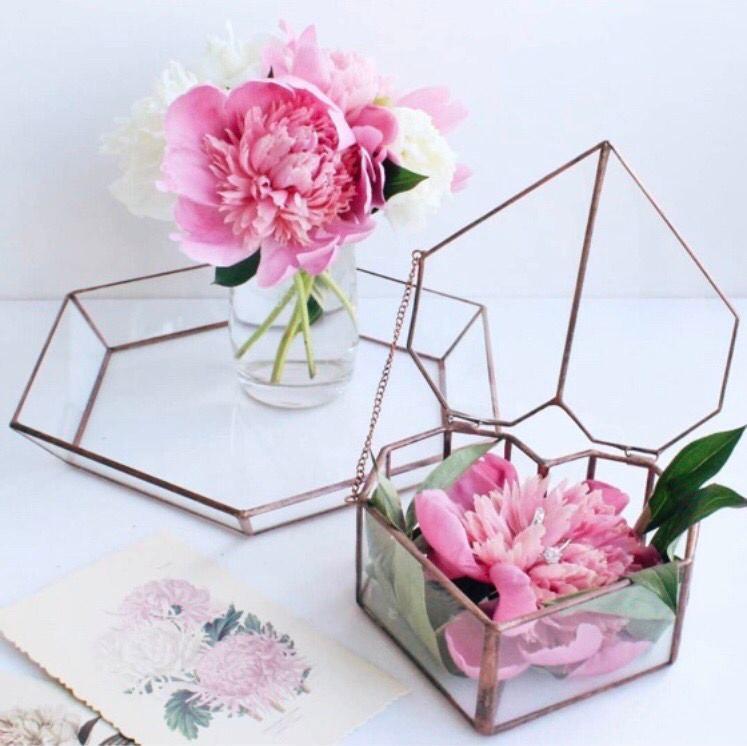 Wedding - Ring box, Wedding ring box, Wedding ring holder, Jewelry glass box