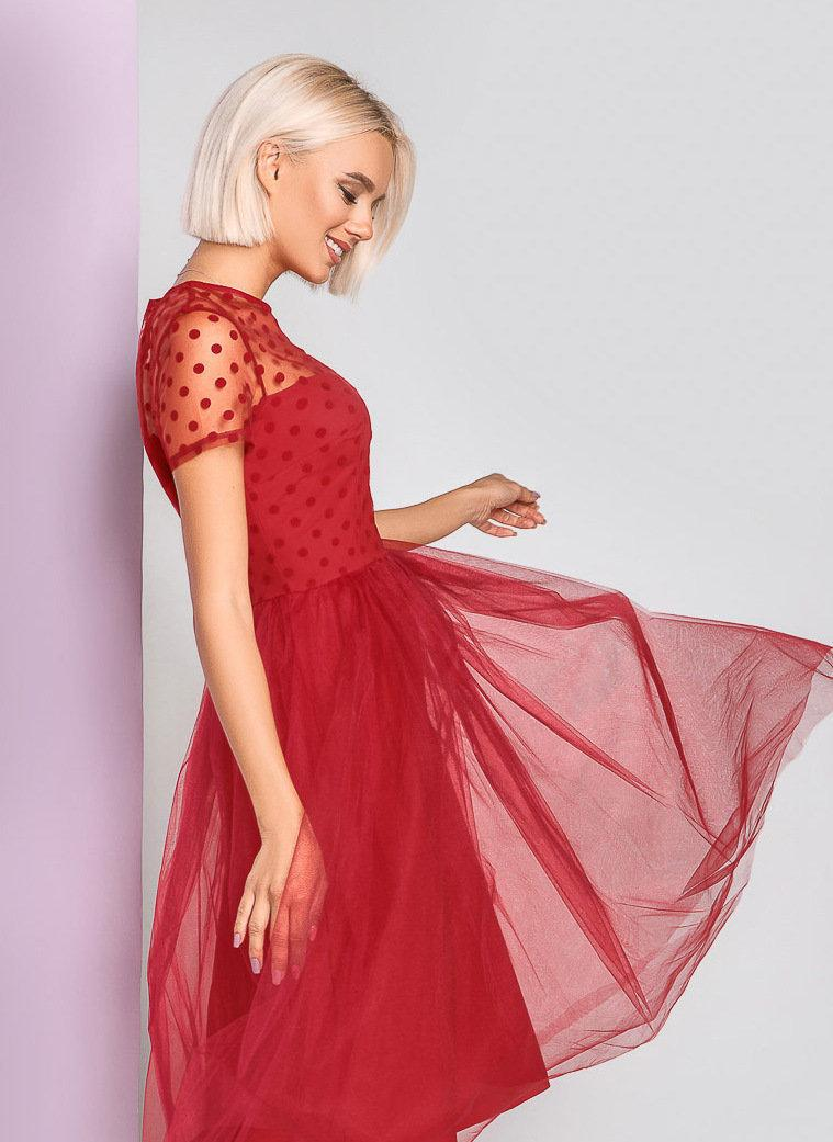 Wedding - Gorgeous Red Polka dots Tulle Dress  Red Tulle Dress Tulle Dress Tulle skirt Red Polka dots Dress Dress Woman Dress Evening Cocktail dress