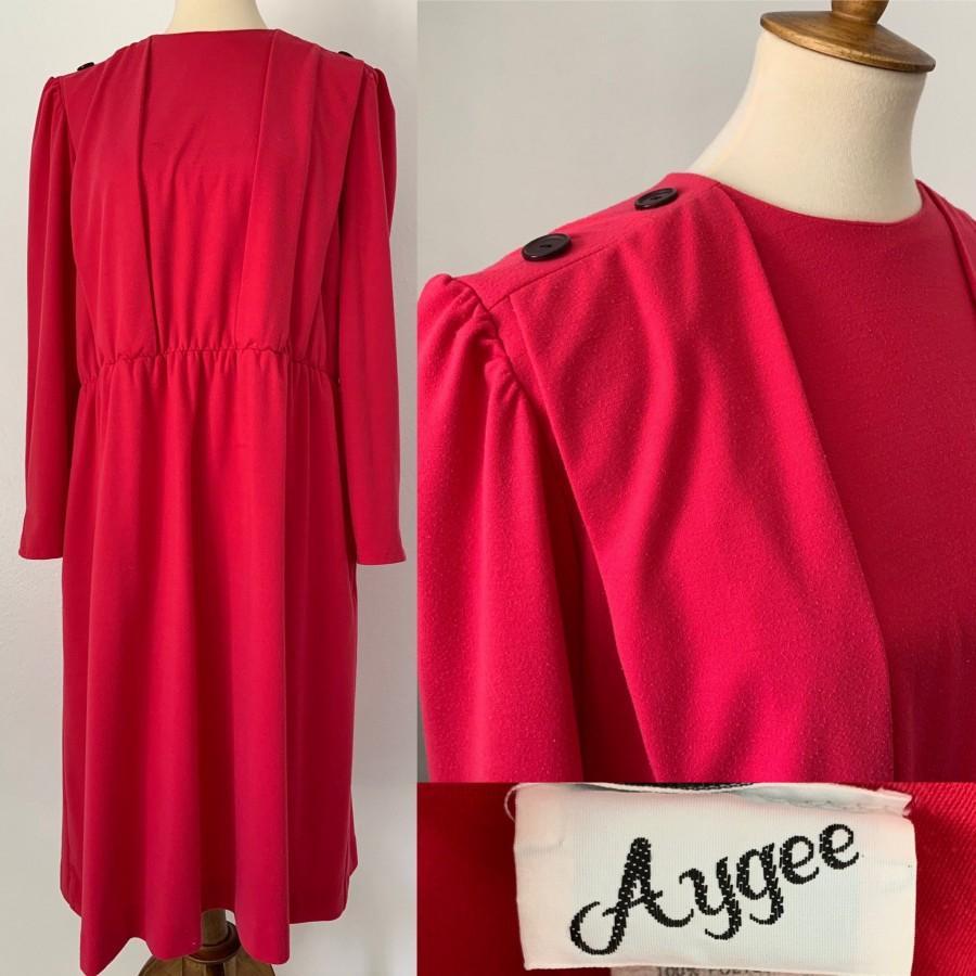 Wedding - Vintage Hot Pink Aygee Dress