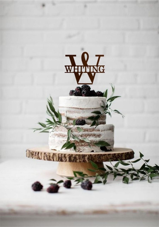 Wedding - Monogram W wedding topper, Last name cake topper, Wedding cake topper letter, Last name sign, Initial cake topper, Single letter cake topper