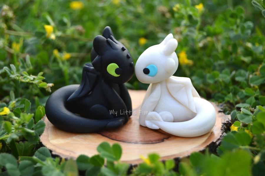 Wedding - Little wedding cake topper - Dragon Couple - Dragon Figure - Night Dragon – Wedding Cake Topper - Birthday - Black Dragon - Gift - Wedding
