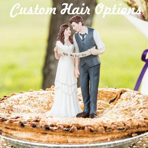 Wedding - Custom Wedding Cake Topper - Bride and Groom Cake Topper - Hipster Wedding - Wedding Cake Topper - Vintage - Retro - Unique - We Did It