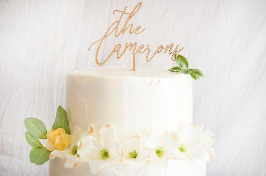 Wedding - Rustic Wedding Cake Topper