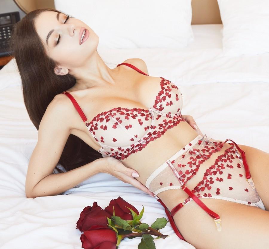 زفاف - Sexy Lingerie Set Lace Lingerie Set Hearts Lingerie Set Handmade Lingerie Honeymoon Lingerie Sexy Lingerie set