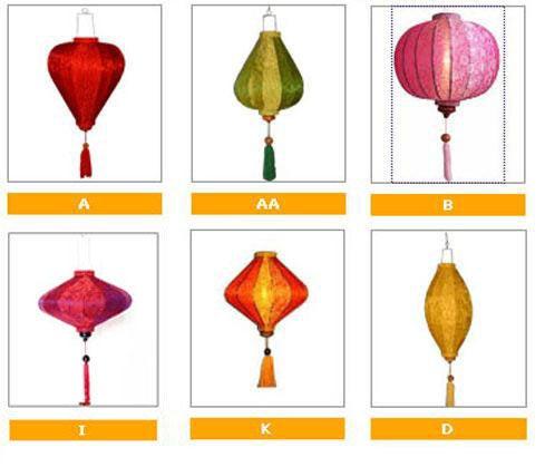 Mariage - 4 Vietnamese HOI AN Silk Lanterns (35cm) - WEDDING Party Decor - Choose Color