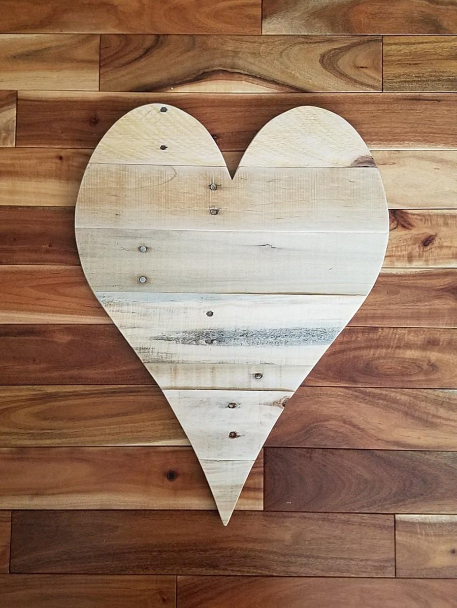 "Wedding - 20"" wood heart large wooden heart large wood heart  pallet wood heart pallet wall art wedding guest book gift for him gift for her BFF gift"