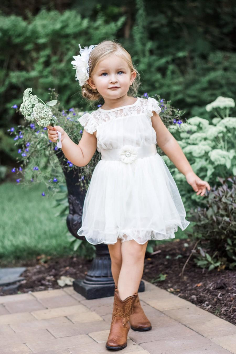 Свадьба - The Original Charlotte - Ivory, Lace, Chiffon Flower Girl Dress, made for girls, toddlers, ages 1T, 2T,3T,4T, 5T, 6, 7, 8, 9/10, 11/12,13/14