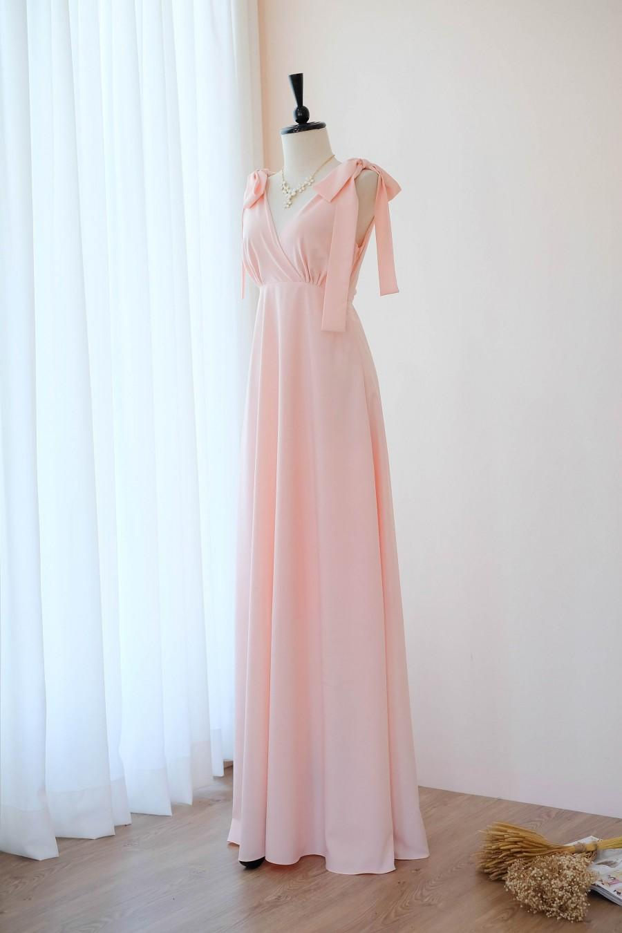 Wedding - Pink dress Pink blush bridesmaid dress floor length bright spring summer bridesmaid dress cocktail party wedding celebration vintage dresses