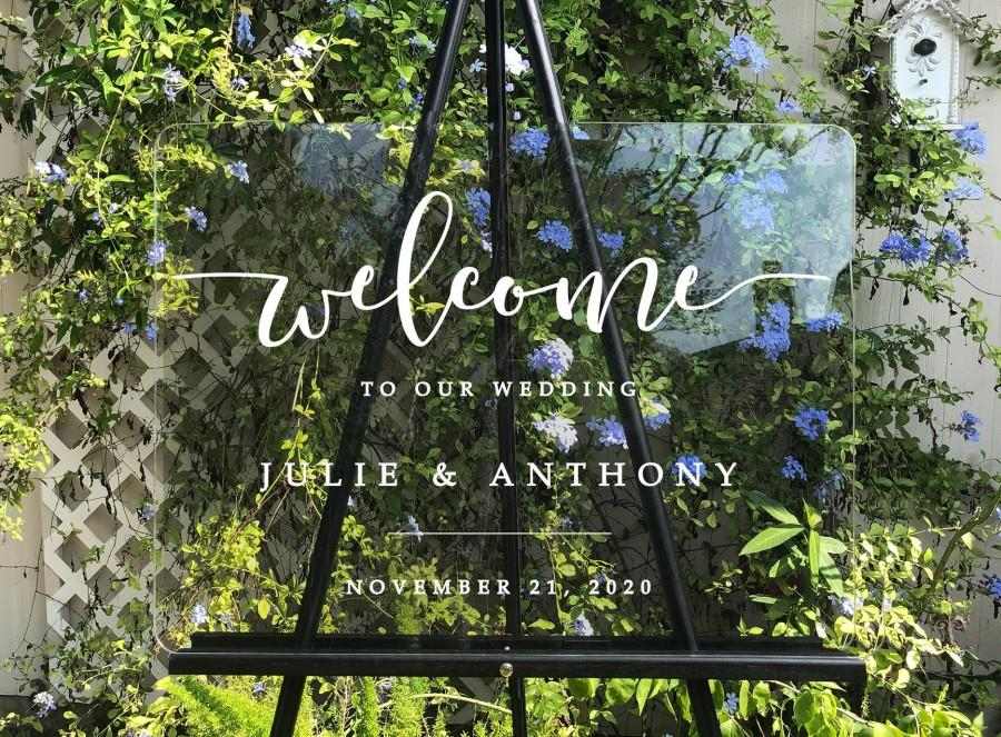 Mariage - Semi-Custom Wedding Welcome Sign, Create your own Welcome Wedding Sign! Acrylic Wedding Sign