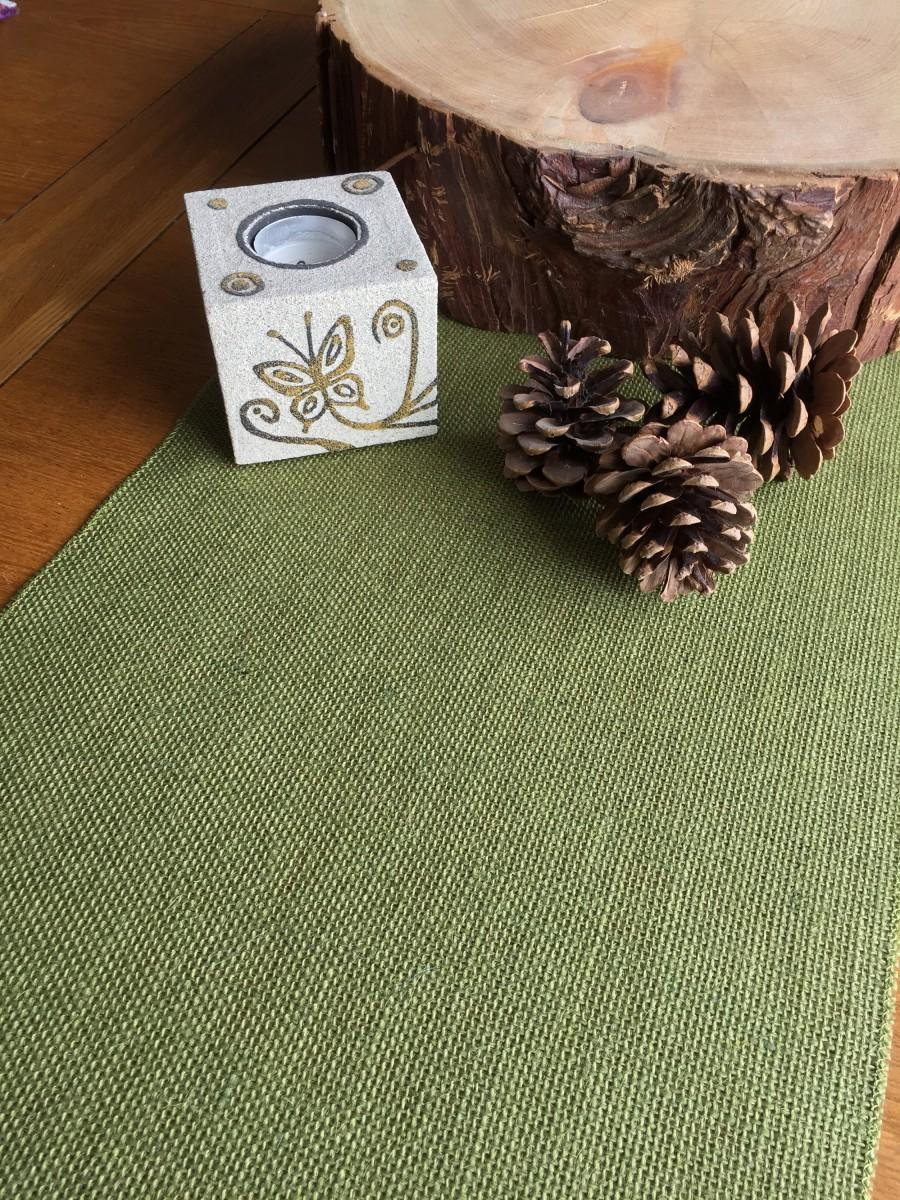 Свадьба - Light Olive Green Hessian Burlap Table Runner