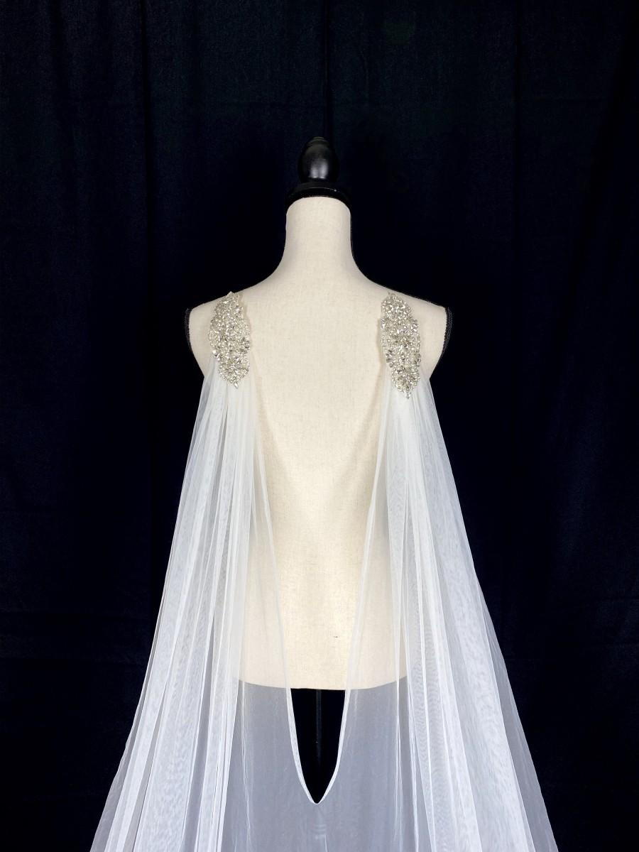 Wedding - Lovely Cathedral Tulle Cape
