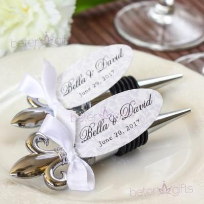 Hochzeit - 結婚回贈禮品法式紀念品鳶尾花紅酒塞Vintage姊妹婚禮紀念品WJ079