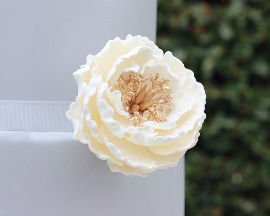 Свадьба - Gumpaste Flower Peony Sugar Flower for Cake Decorations