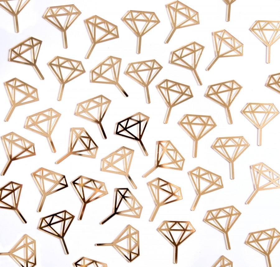 Свадьба - Diamond Ring Cupcake Toppers, Engagement Party Bachelorette Bridal Shower Cupcake or Mini Donut Cupcake Topper Decor Bridal (Item - DCC900)