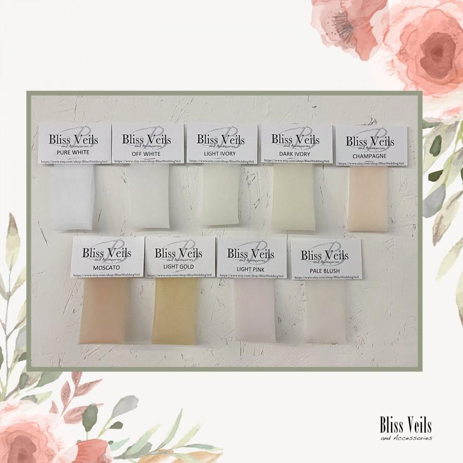 Hochzeit - Bridal Veil Color Samples - Fast Shipping