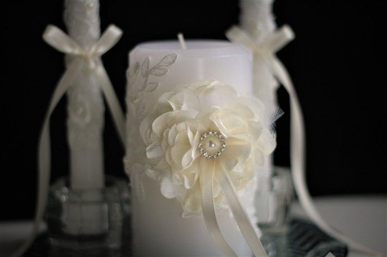 Wedding - Ivory Unity Candles