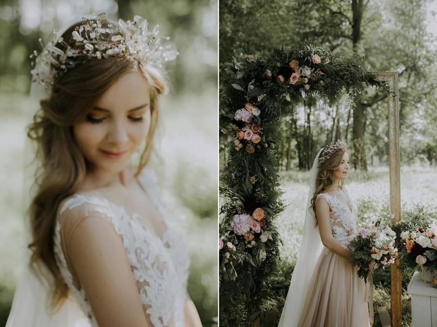 Wedding - ANASTASIA dream Wedding Crown Quartz Tiara