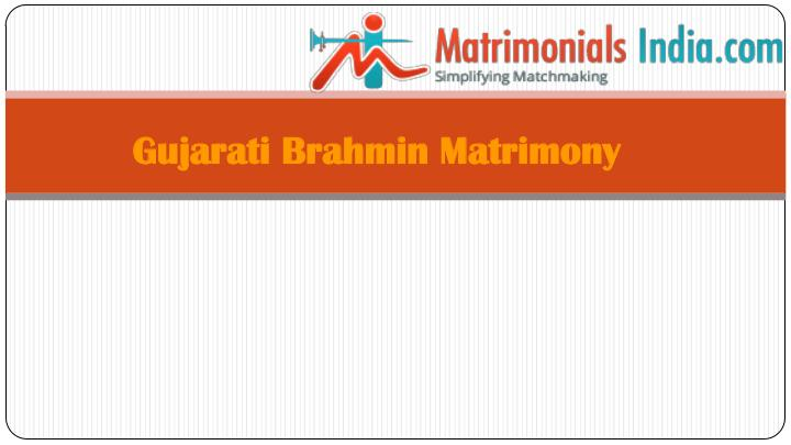 Wedding - Gujarati Brahmin Matrimony Site