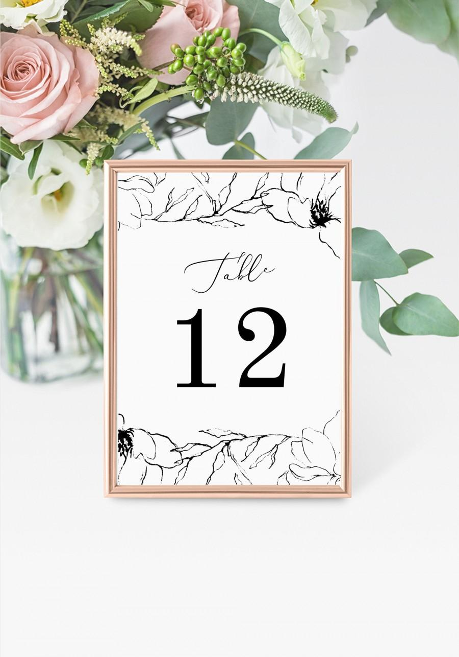 "Mariage - Rustic Table Numbers 5x7"" INSTANT DOWNLOAD, Printable Wedding Table Numbers, DIY Printable Decorations, Templett, Editable, INSW019"