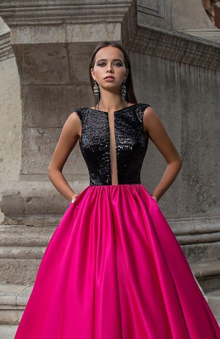 Свадьба - Sequin Dress Prom Dress Long Evening Gown Ball Gown Pink Dress Formal Dress Wedding Guest Dress Dress With Pockets Dresses For Women 2020