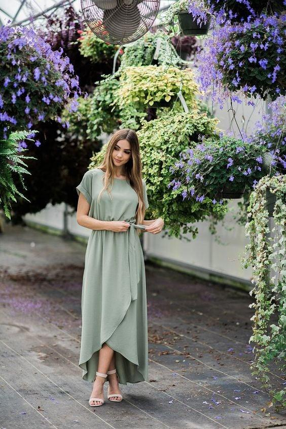 Свадьба - Pale Green Wrapdress, Maxi Wrap Dress, Wrap Dress, Custom Dress, Long Dress, Wrapdress, Bridesmaid Dress, Bridesmaids Dresses, Plus Size