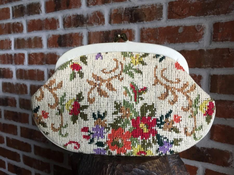 Wedding - Clutch Tapestry Evening Bag, Floral Evening Bag, Colorful Evening Bag