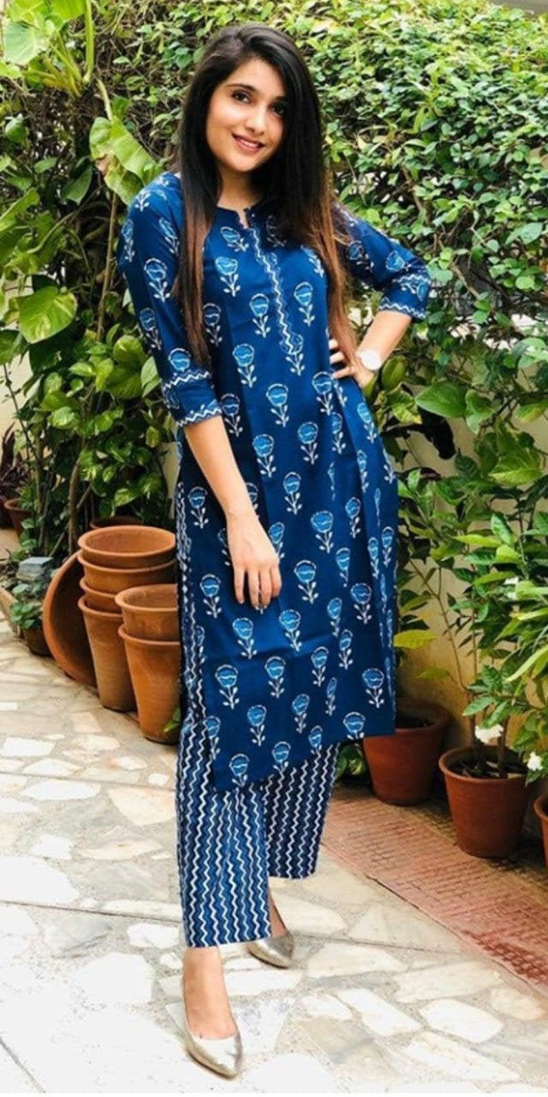 زفاف - Women kurti with pant kurti set kurti pant set kurti set for women kurti dress kurti kurta kurti pant set kurti with pant Indian kurti set