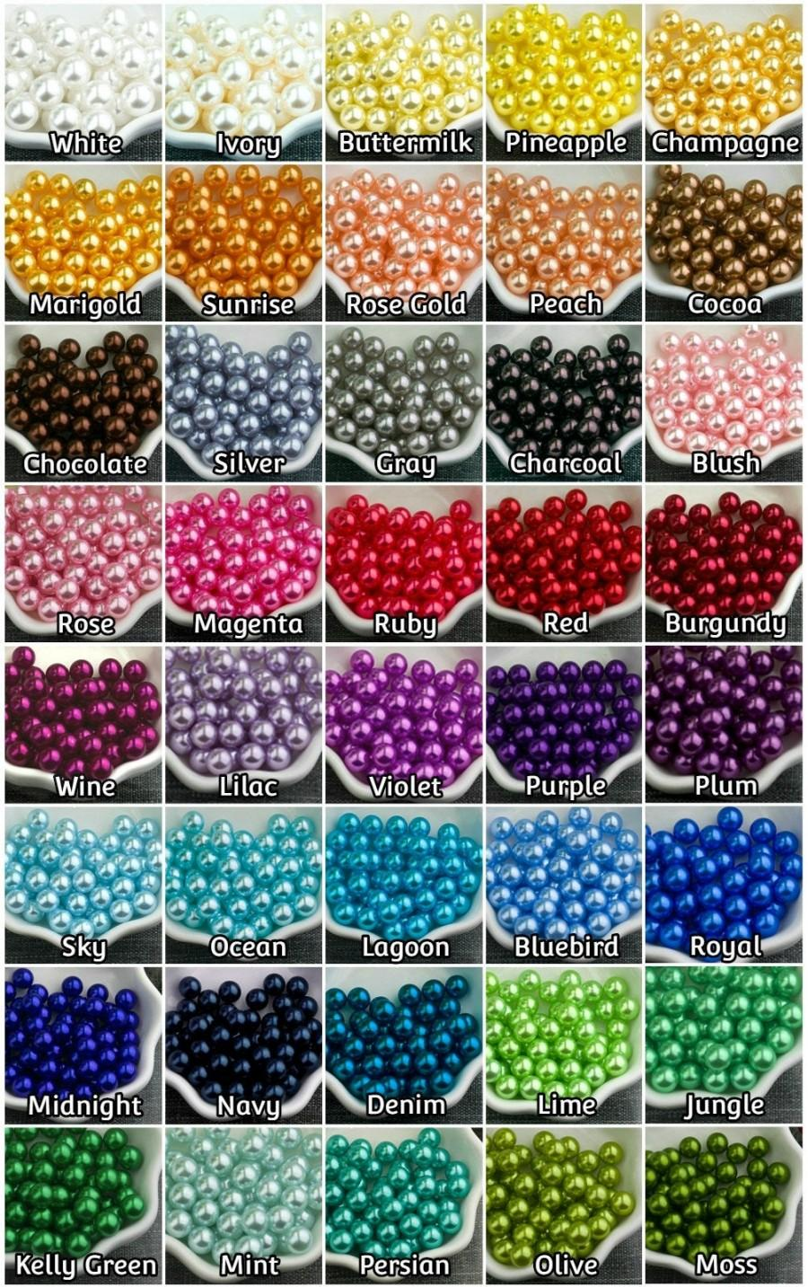 Wedding - 40+ Color Pearls - 8 Size Available - No Hole Pearls - Jumbo Pearls, Vase Fillers Pearls, Floating Pearls Centerpiece, Table Decor