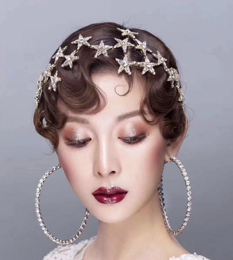 Hochzeit - Wedding Star Tiara with Rhinestones
