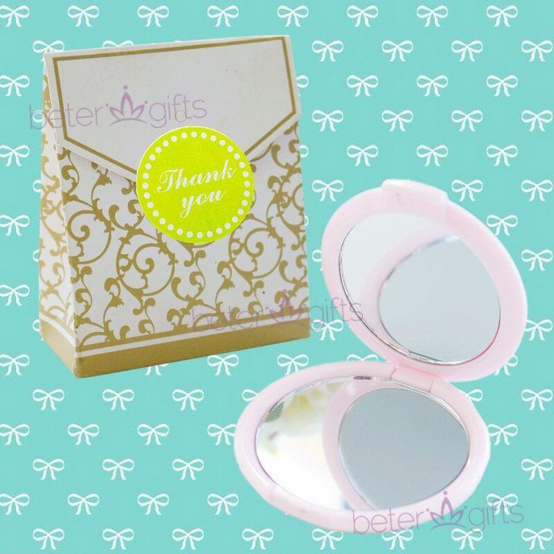 Hochzeit - #Bacheloretteparty #weddingfavors #girlsEssentials pink Lady's Mirror Compact WJ067/C