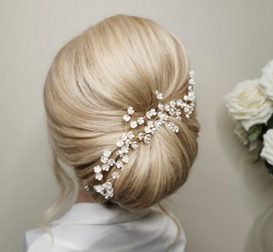 Wedding - Wedding Hair Comb/ Gold Hair Comb/ Bride Accessories/Bridesmaid Accessories/ Flower Girl/ Hair Accessories/ Hair comb/Gold Hair Pins