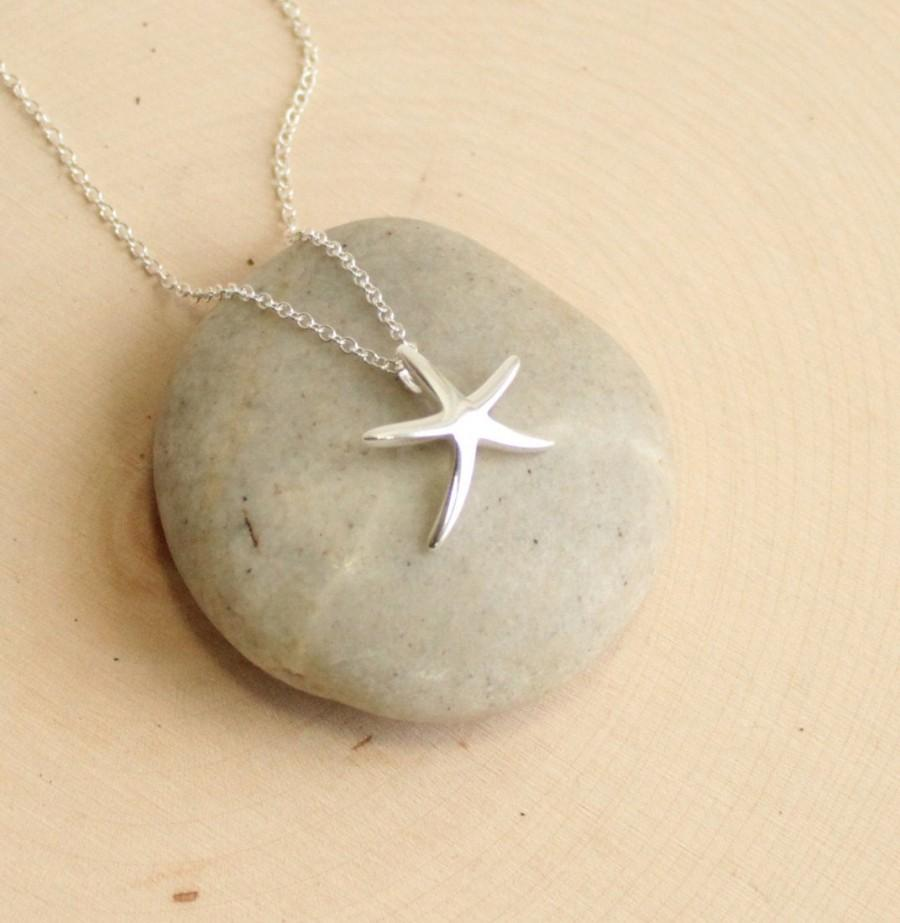 Mariage - Sterling Silver Sliding Starfish Necklace