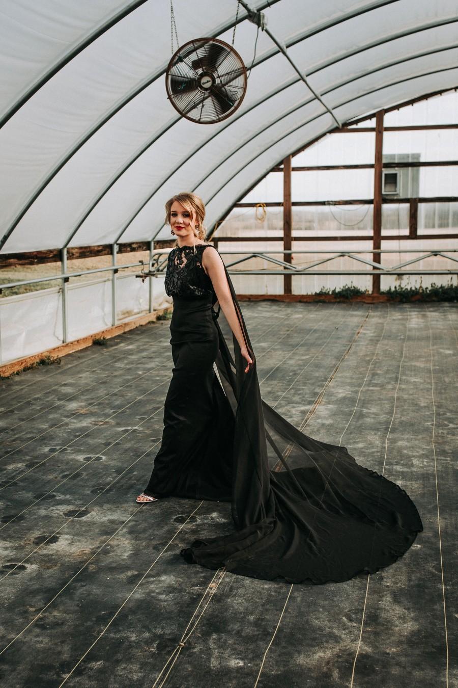 Hochzeit - Black Evening Gown, Prom Dress,