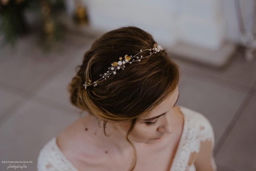Hochzeit - Wedding Hair Accessories, Bridal Hair Piece, Wedding Hair Headband, Wedding Hair Jewelry, Bridesmaid Hair Piece, Bride - Amorosa