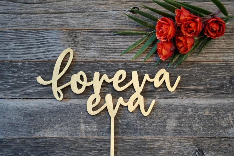 Mariage - Foreva Eva Wedding Cake Topper