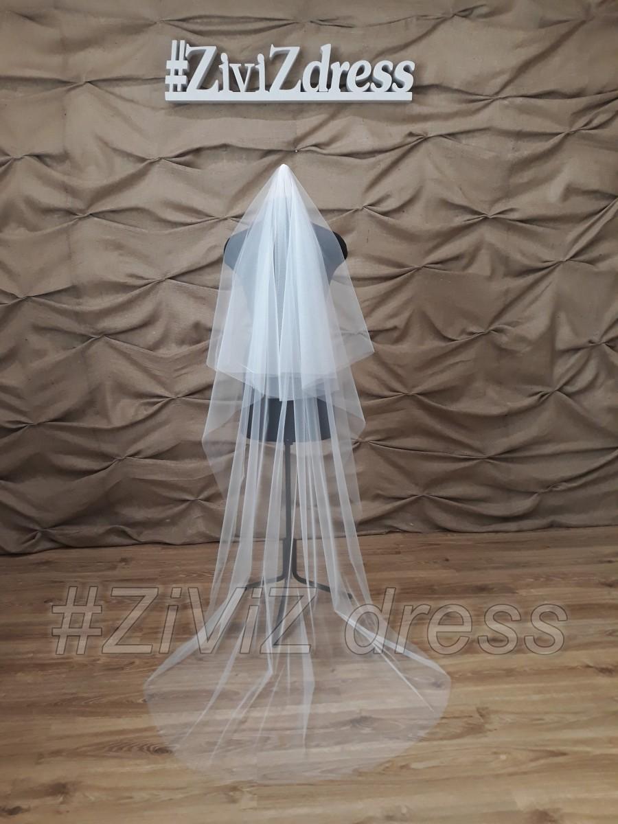 Wedding - Drop wedding  veil, Two tiers cathedral veil, Vail, Veil, Wedding veil, two tiers veil, Cathedral veil, Floating veil