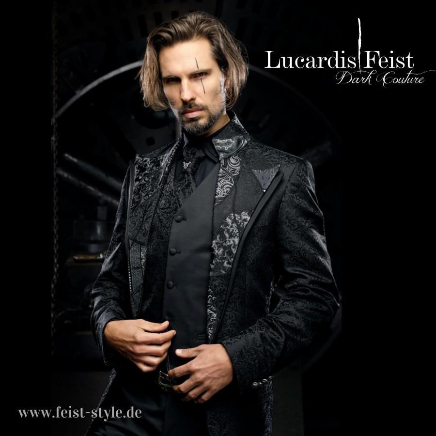 Wedding - Steampunk frock coat / Extravagant wedding suit / Original Feist Style Jacket / Patchwork design