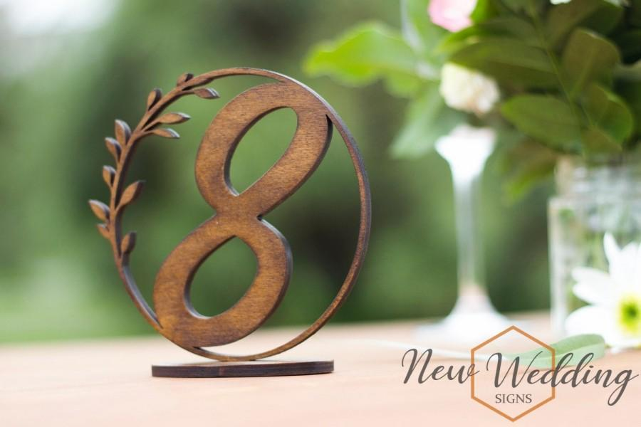 Wedding - Table Numbers, Rustic Wood Wedding Decor, Table Decor, Event Accessories, Wedding Table Numbers, Elegant Wooden table numbers, Dark Walnut