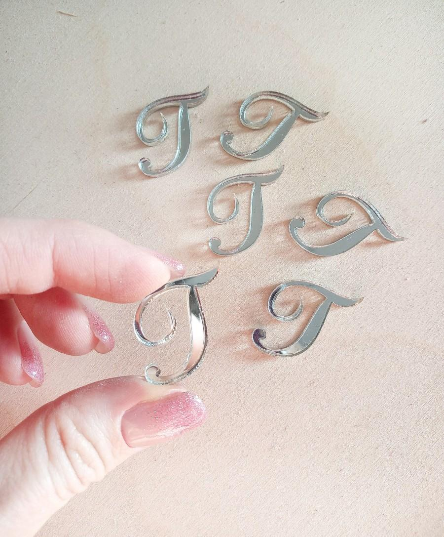 Wedding - Personalized wedding small letters, silver tags, candy decor