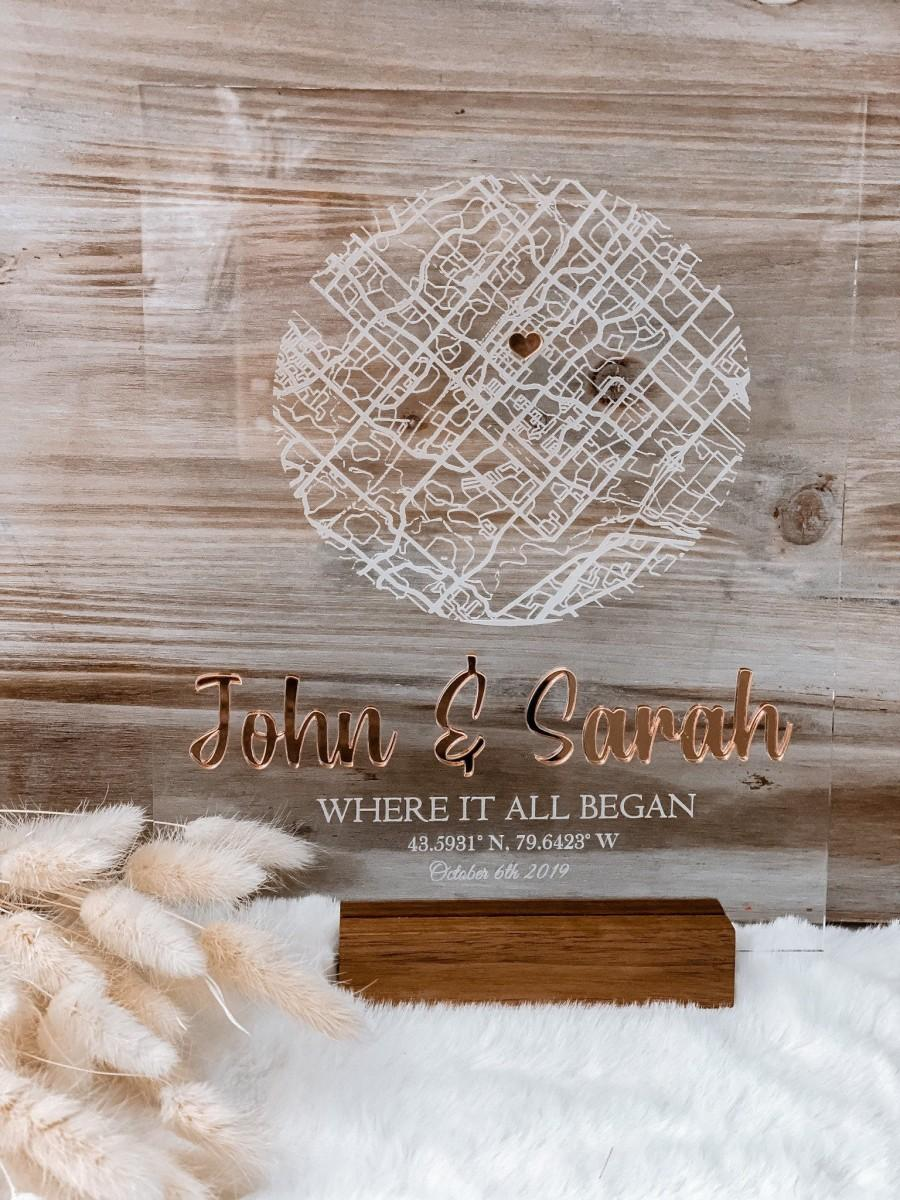 Wedding - Engraved Love Map, Gift for him, Valentines gift for him, Gifts for her, Personalized Gifts, Wedding Gift, Anniversary Gift