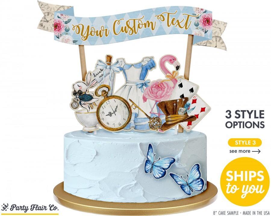 Wedding - ALICE IN WONDERLAND Cake Topper